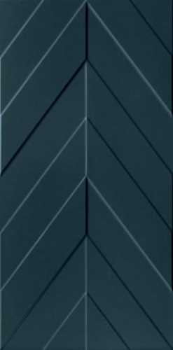 Настенная плитка 4D D734 Chevron Deep Blue Matt Rett 40x80 от Marca Corona (Италия)