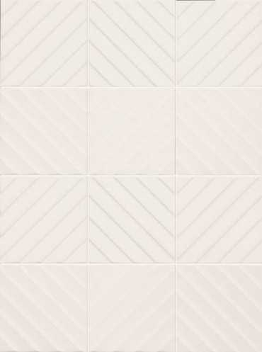 Настенная плитка 4D Diagonal White 20x20 от Marca Corona (Италия)