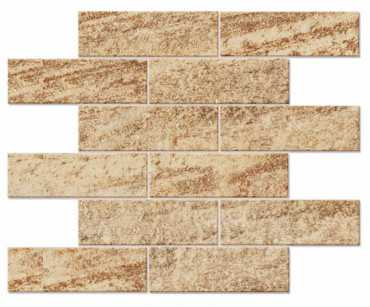 Мозаика QUARZITE MOSAICO BRICKS QZ 02 неполированный 30x38 от Estima (Россия)