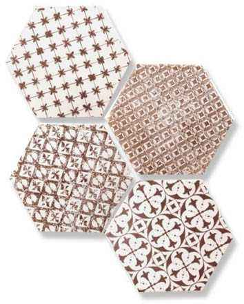 Мозаика Mosaic Granate Hexagon