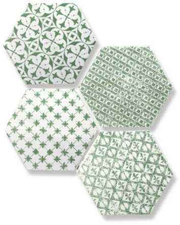 Мозаика Mosaic Verde Hexagon